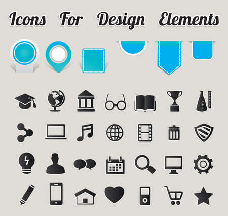 Icons For Design Elements - vector icons Vector