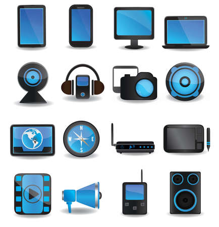 Technology device icons - vector icons  Stock Vector - 16633034