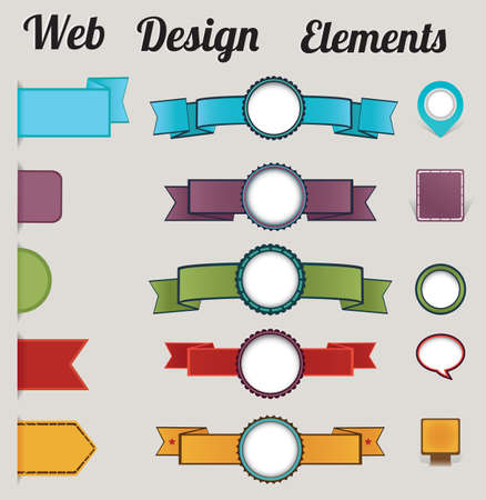 Set of retro web design elements - vector elements Vector