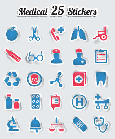 pulmones: Medical stickers - part 1 - vector stickers Illustration