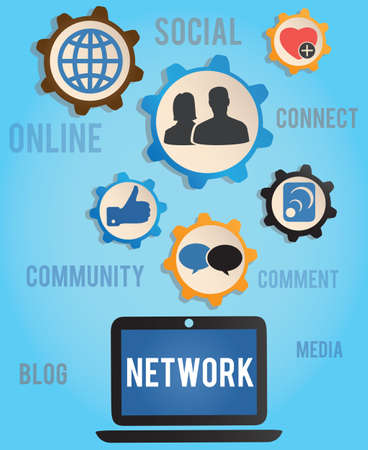 concept of network - vector illustration Stock Vector - 16632968