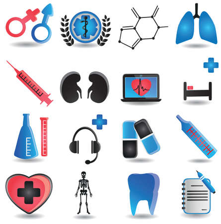 Set of medical icons - part 2 - vector icons Stock Vector - 16632972