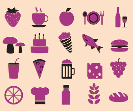 Set of food icons - vector icons Vector