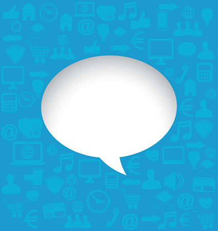Background with social media icons for text or main icon - vector illustration