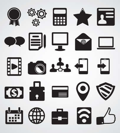 web address: Set of Internet icons - vector icons