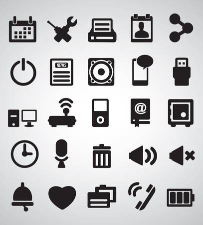 Set of Internet icons - part 2 - vector icons  Stock Vector - 16632891