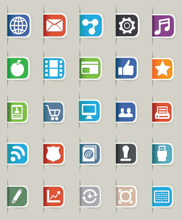 Set of internet bookmark - part 1 - icons Stock Vector - 16756471