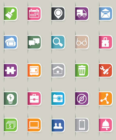Set of internet bookmark - part 2 - icons Stock Vector - 16756470