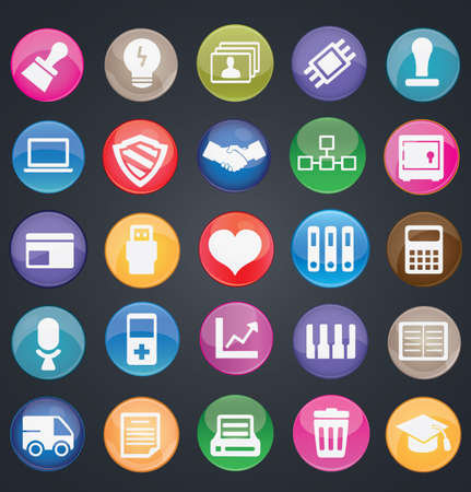Set of social media buttons for design - part 2 - icons Stock Vector - 16756542