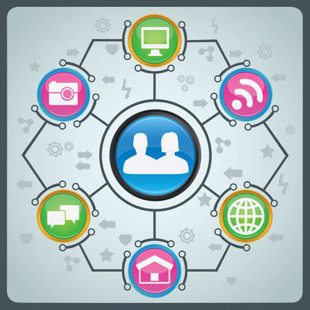 techology: Concept of social media -  illustration