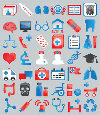 Set of medical icons for design - icons Vector
