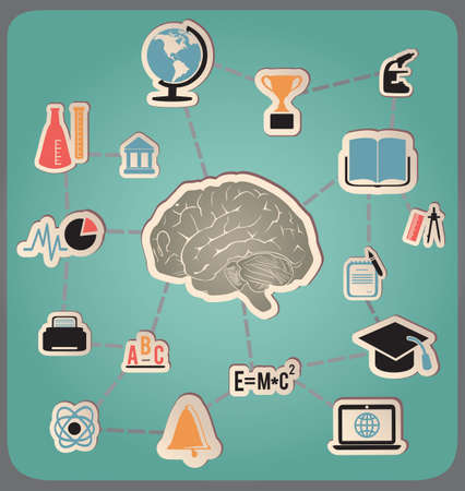 Concept of education and science - illustration Vector