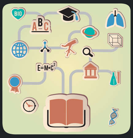 Concept of education - illustration Vector