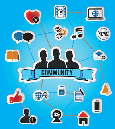 concept of community - illustration Vector