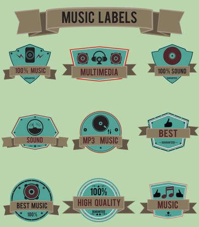 vynil: music labels   Illustration