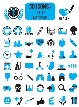 set of medicine health icons Stock Vector - 17569867