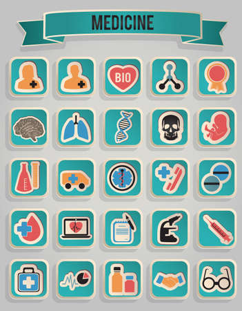 set of medicine icons Stock Vector - 17569928