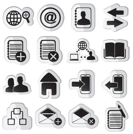 set of community stickers - illustration Stock Vector - 17569857