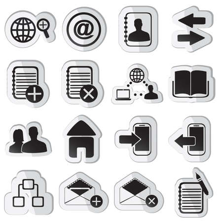set of community stickers - illustration Stock Vector - 17569857