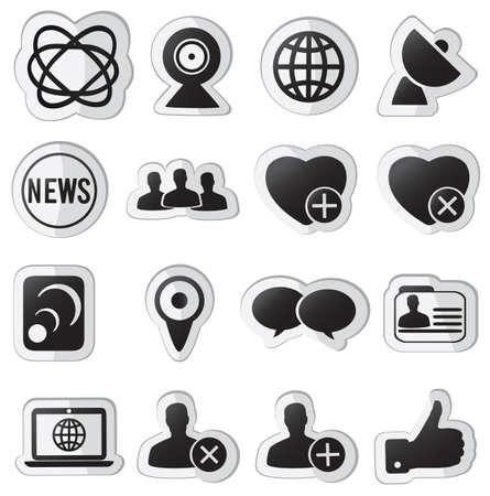 set of community stickers  -   illustration Stock Vector - 17569804