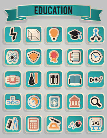 set of education icons -   icons Stock Vector - 17569862