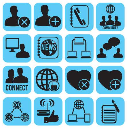 set of social media icons -  illustration Stock Vector - 17569789
