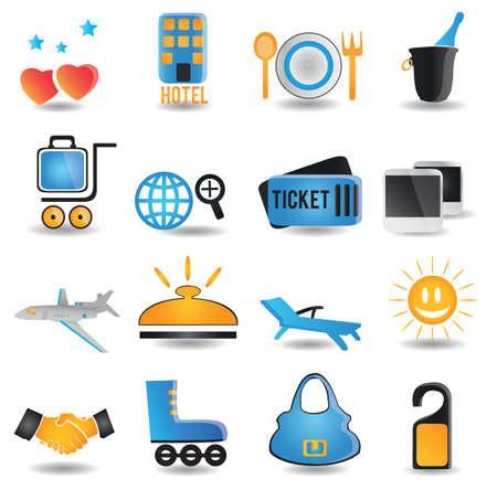 set of travel icons -  illustration