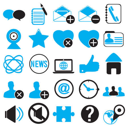 set icons for community -  illustration Stock Vector - 17569801