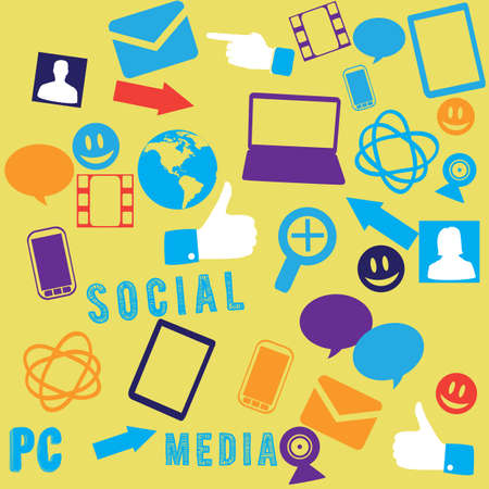 chaotic: Seamless social media background -  illustration Illustration
