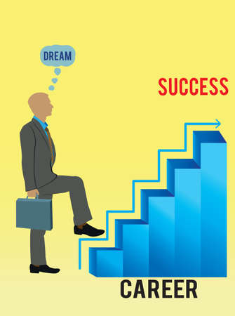 step up: staircase of the career -  illustration Illustration