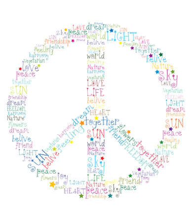 peace symbol word Stock Vector - 17569953