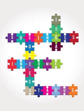 puzzles for business -  illustration Stock Vector - 17569852