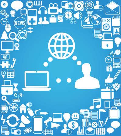 user and social media -  illustration Stock Vector - 17569924