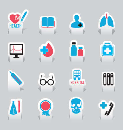 Labels for medicine -  illustration Stock Vector - 17569775