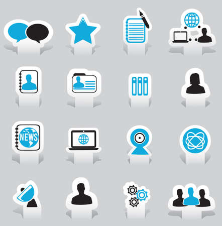 Labels for social media -  illustration Stock Vector - 17569787
