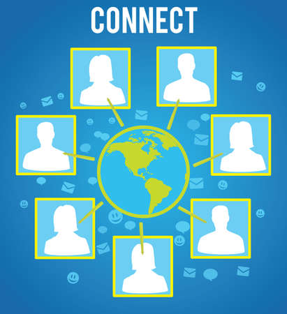 connecting people of the world -  illustration Stock Vector - 17569757