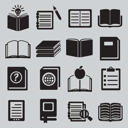 pocket book: Set of  various books - vector icons Illustration