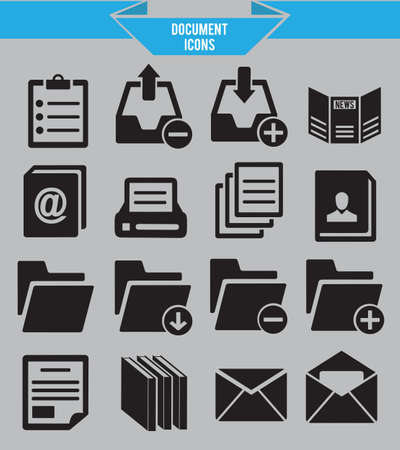 encyclopedias: Set of document icons - vector icons