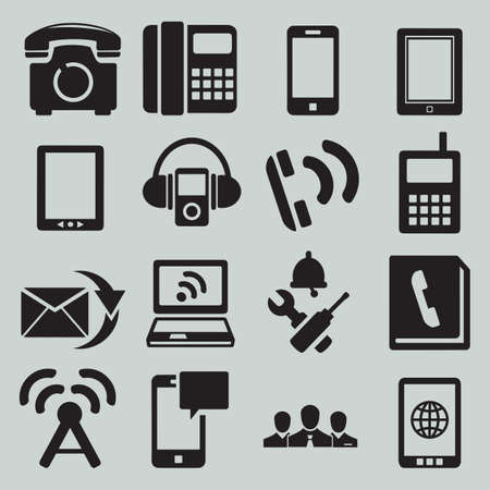Set of mobile devices - vector icons Stock Vector - 19085077