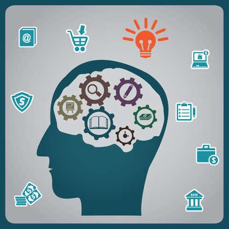 Concept of brainstorm - vector illustration Vector