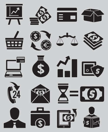 electronic transaction: Set of business and money icons - part 1 - vector icons