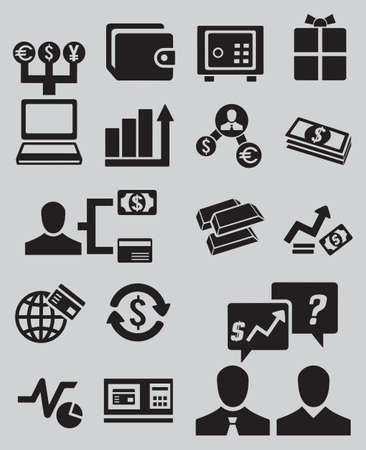 Set of business and money icons - part 2 - vector icons Vector