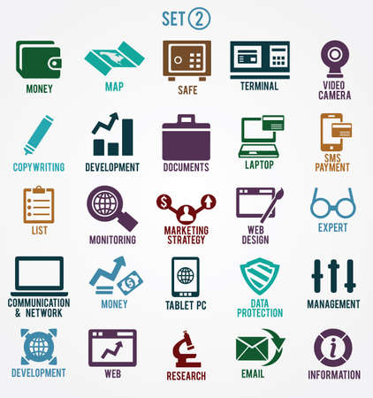 submission: Set of internet services icons - part 2 - vector symbols