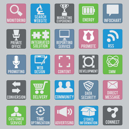 Set of seo icons - part 2 - vector icons Vector