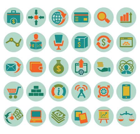 social media marketing: Set de iconos de los medios sociales de marketing - iconos vectoriales Vectores