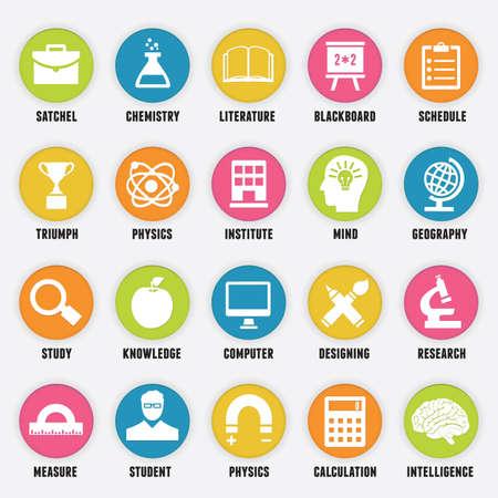 iconos educacion: Conjunto de iconos de la educaci�n - parte 1 - Iconos