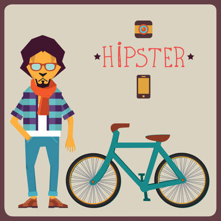 Concept of hipster - vector illustration Vector