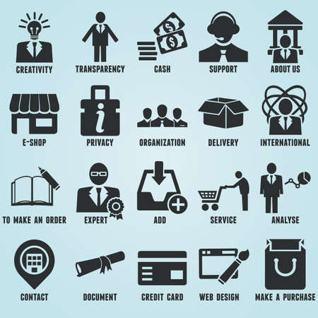 Set of marketing internet and service icons - part 1 - vector icons Vector Illustration