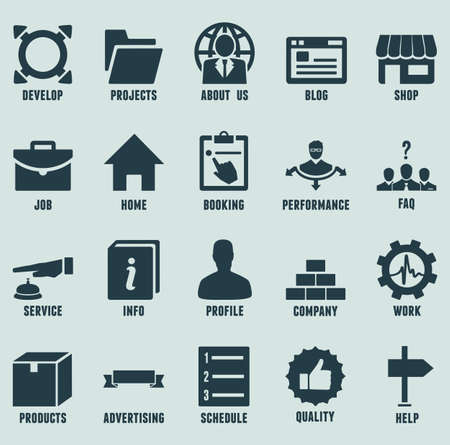 Set of marketing internet and service icons - part 2 - vector icons Illustration