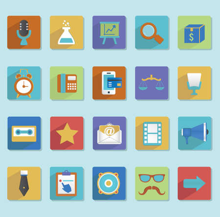 Flat icons for web design - part 3 - vector icons Vector
